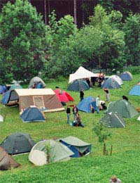 Camping Tent Campsite Kids France Camp